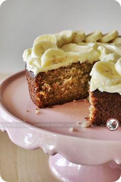BANANA CAKE WITH LEMON CREAM CHEESE FROSTING