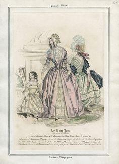 Ladies' Magazine - Le Bon Ton August 1843 LAPL