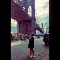 Under the #brooklynbridge ... Use the brooklyn filter  #sonastravels #sonatheexplorer #nyc