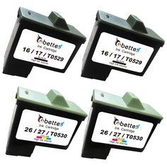 4PK,Ink Cartridges for Lexmark 16 26 Printer Z13 Z23 Z24 Z25 Z25 L Z33 Z34 Z35 Z503 Z510 Z511 Z512 Z514 Z515 Z516 Z517 Z600 Z601