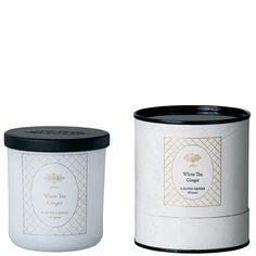 FRÖJD Candle White tea ginger glass white M