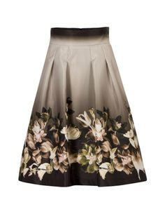 A-lijn rok met bloemdessin