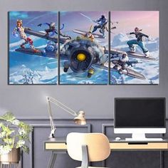 3 Pcs Fortnite Battle Royale Season 7 Skins Print Canvas Picture Wall Art Home Wall Art Pictures, Canvas Pictures, Canvas Picture Walls, Lord Ganesha Paintings, Multi Picture, Cheap Paintings, Landscape Walls, Living Room Art, Modern Wall Art