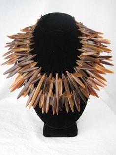 Gerda Lynggaard for Monies Dramatic Horn Necklace