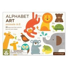 Petit Collage - Alphabet Art - Animals from Citrus Lane