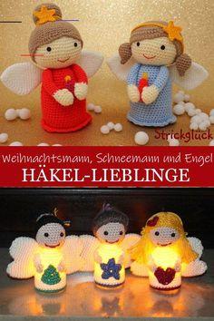 Häkel-Lieblinge: Weihnachtsmann, Schneemann und Engel - #snowmanpatterns - Auch, wenn Weihnachten noch ein paar Wochen hin ist, wird es als Häkler(in) langsam Zeit seine Vorbereitungen zu treffen und munter Weihnachtssachen zu häkeln. Denn spätestens in der Adventszeit will man ja sein Haus auch weihnachtlich schmücken. Und viele Häkeleien eignen sich auch prima als Weihnachtsgeschenke. In dieser Ausgabe der Häkel-Lieblinge habe ich für euch deshalb Häkelanleitungen für Weihnachtsmann… Bouquet Crochet, Crochet Wreath, Christmas Crochet Blanket, Christmas Crochet Patterns, Easy Blanket Knitting Patterns, Easy Knitting, Primitive Christmas, Knitted Heart, Christmas Baby