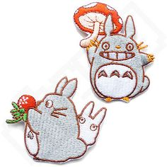 TOTORO Iron Sew On Patch Badge Motif Transfer Kids Clothing Anime in Collectables, Badges/Patches, Character Badges | eBay