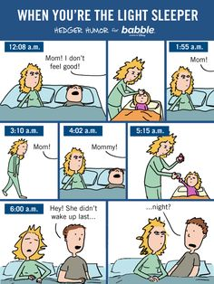 When You're the Light Sleeper (Parenting Comic by Hedger Humor for Babble)