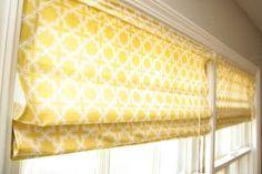 DIY Roman shades using cheapo mini blinds.