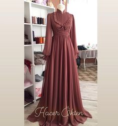 Dresses To Wear To A Wedding, Beautiful Prom Dresses, Short Bridesmaid Dresses, Simple Dresses, Formal Dresses, Dress Wedding, Hijab Style Dress, Modest Fashion Hijab, Muslim Fashion