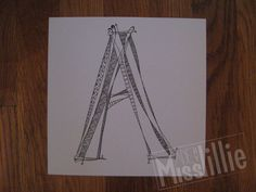 Hand Drawn Letters  A by MadebyMisslillie on Etsy, $10.00