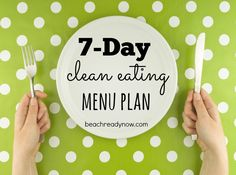 Starting a clean eating plan and not sure what to eat? Here is a week's worth of family-friendly meal ideas plus a frugal shopping list
