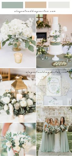 sage green white and gold neutral garden wedding colors Green Wedding Invitations, Trendy Wedding, Garden Wedding, Wedding Colors, Table Decorations, Bride, Sage, Neutral, Gold
