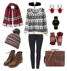 """""""Casual Christmasy/Winter outfit"""" by breannagutierres on Polyvore featuring Burberry, Dorothy Perkins and Fits"""