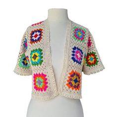 Crochet Flower Scarf, Crochet Jacket, Crochet Cardigan, Crochet Top, Bralette Pattern, Granny Square, Crochet Summer Dresses, Lace Outfit, Yarn Colors