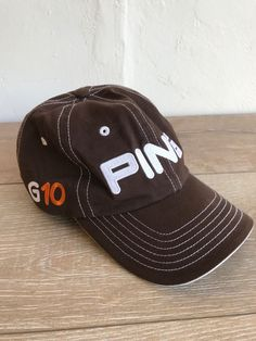 30c9459bf65 Details about Ping G10 Embroidered Adjustable Strapback Golf Hat Baseball  Cap OSFA Red White