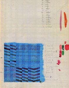 Bauhaus Textile Artist Gunta Stolzl sketch for fabric