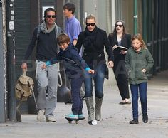 Kate Winslet brought boyfriend Ned Rocknroll along for a family walk in NYC with Mia and Joe.