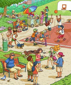 kirjoita kuvasta -- These are from my recent work for Highlights' Eagle Eye Hidden Picture magazine starting Heidi and Zeke. Typically there are stories that accompany each illustration. Picture Writing Prompts, Writing Pictures, Speech Therapy Activities, Speech Language Therapy, Speech And Language, Spanish Classroom, Teaching Spanish, Teaching English, Education English