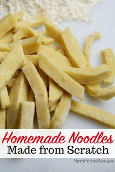 How To Make Your Own Homemade Noodles Easier Than You Think Homemade Noodles Noodle Recipe Homemade Pasta Recipe Easy Noodle Recipe Easy Noodle Recipe How To Make Homemade Noodles From Scratch Egg Noodle Recipes, Easy Pasta Recipes, Easy Meals, Soup Recipes, Drink Recipes, Dinner Recipes, Recipe Pasta, Frugal Meals, Noodle Dough Recipe