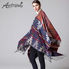 Winter Scarf Women Cashmere Feel Poncho Cape Warm Scarves $25.78 => Save up to 60% and Free Shipping => Order Now! #fashion #woman #shop #diy http://www.scarfonline.net/product/aetrends-2016-new-winter-scarf-women-cashmere-feel-poncho-cape-warm-scarves-india-ethnic-style-shawl-z-3451/