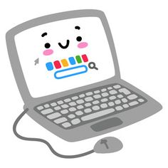 This fun kawaii computer is perfect for your back to school projects! Great for bullet journaling, scrapbooking, card making and more! Cute Doodle Art, Cute Art, Cute Letters, Kawaii Doodles, School Decorations, Cute Icons, Silhouette Design, Cute Stickers, Easy Drawings