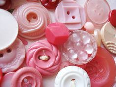 #pink #buttons