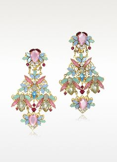 Erickson Beamon Dolores Crystals Drop Clip On Earrings