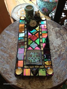 All In Good Time #Mosaic Tile Incense Holder ... these were really fun to make!