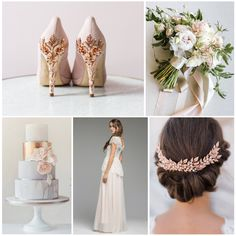 Happy Sunday, we want to inspire your wedding planning with some pure pink and rose gold inspiration.  Pink shoes are subtle for the day and to wear on your honeymoon, we have the gorgeous Joanie Rose Gold Cherry from our new collection. Beautiful bouquet by Nicole Ha Design Photography ~ Jasmine Lee Photography Stunning cake by: Poppy Pickering One of our favorite dress designers: Katya Katya and beautiful hair piece by Kelly Spence - Bridal Accessory Design.