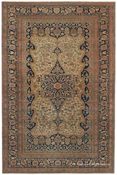 One of the true jewels among the many highly collectible area size antique Oriental rugs in the Bostonian cache, this resplendent mid-19th century Persian city antique carpet illustrates why the best antique Persian rugs from the Motasham Kashan group arouse intense interest among connoisseurs.