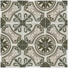 "Serdi 13"" x 13"" Ceramic Field Tile in Beige/Green"