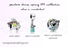 pandora alice in wonderland charms 2016
