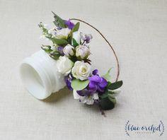 Flower Crown, Purple Flower Crown, Boho Wedding, Boho, Floral Crown, Flower Head Piece, Flower Hair Accessory, Wedding Crown, Eucalyptus by blueorchidcreations on Etsy