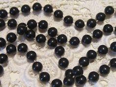 Vintage Black Bead Necklace