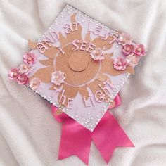 My UCSD graduation cap! #tangled #rapunzel #graduation #princess #graduationcap #girly