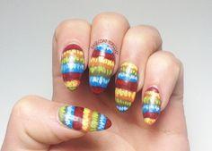 BASE COAT TOP COAT, PIÑATA PATTERN #nail #nails #nailart