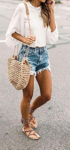 Summer Fashion For Teens, Summer Fashion Outfits, Casual Summer Outfits, Short Outfits, Spring Summer Fashion, Spring Outfits, Beach Outfits, Outfit Summer, Skirt Fashion