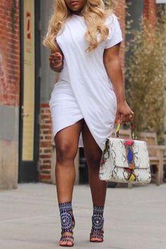 5cc31f15282 Melidress Polyester Casual O neck Cap Sleeve Short Sleeve Straight Min –  MELIDRESS Xl Fashion