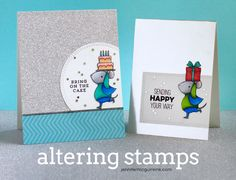 Altering Stamps Video by Jennifer McGuire Ink