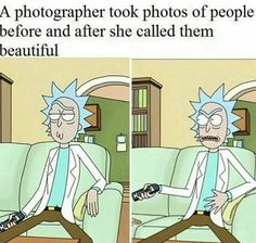 Before and after being called beautiful