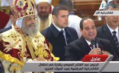 Sisi acude a la misa copta de Navidad y llama a la unidad nacional.