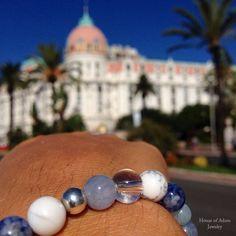 Our `Nice´ mensbracelet in front of the famous Negresco Nice #Nicefrance #Mensjewelry #mensbracelets