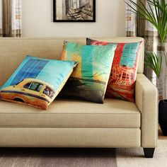Tangerine Indie Tadka Kolkata Cushion Cover 3 Pcs - Add oodles of style to your home with an exciting range of designer furniture, furnishings, decor items and kitchenware. We promise to deliver best quality products at best prices.