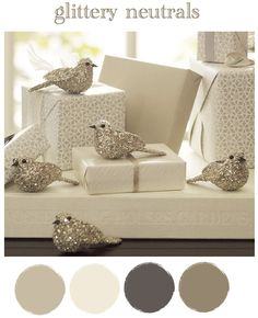 winter neutral christmas colors
