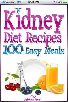 Kidney Diet Recipes App for iPad - iPhone - Health & - Looking for free diet… . - Recipes World Healthy Kidney Diet, Healthy Kidneys, Kidney Health, Kidney Detox, Health Diet, Kidney Foods, Kidney Cleanse, Kidney Flush, Cleanse Detox