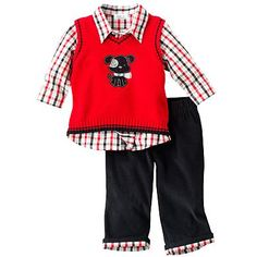 The little man's Christmas outfit, on sale for $35.00 at Kohl's