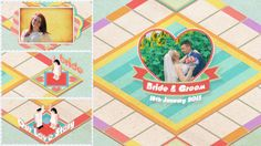 Board Game Wedding Slideshow  • After Effects Template • See it in action ➝ https://videohive.net/item/board-game-wedding-slideshow/10266777?ref=pxcr