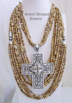 Schaef Designs Picture Jasper southwestern necklace pairing | New Mexico