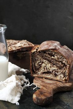 this bread reminds me of a zebra because of the stripes running through it. once baked i sliced it and put it under the grill and added some butter and wehad itfor breakfast. home...